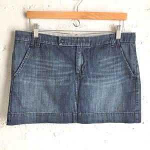 Gap denim mini skirt size 10